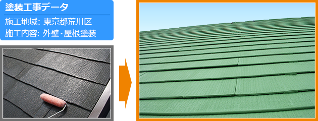 荒川区戸建て住宅の外壁塗装・屋根塗装工事の施工事例