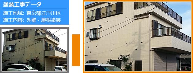 江戸川区戸建て住宅の外壁塗装・屋根塗装工事の施工事例
