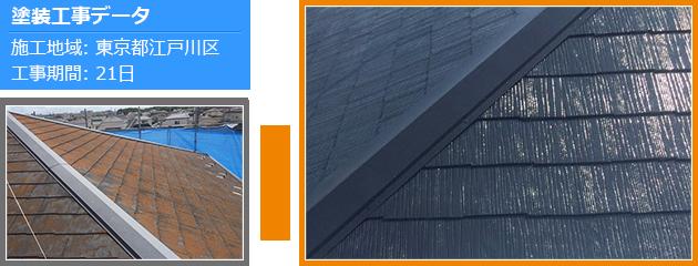 パラサーモシリコンを使った屋根塗装の施工事例