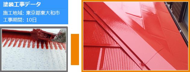 サーモアイシリーズを使った屋根塗装の施工事例