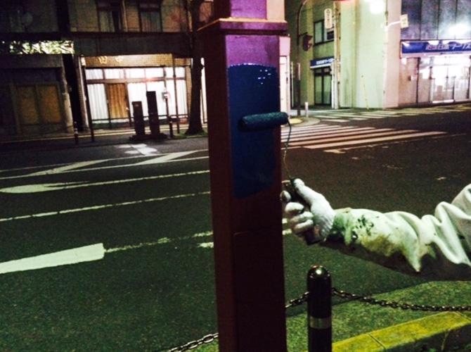街路灯の錆止め・塗装も対応可能です。