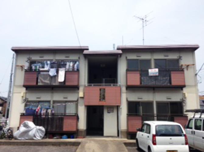 東京都葛飾区アパートの外壁塗装・屋根塗装の施工前