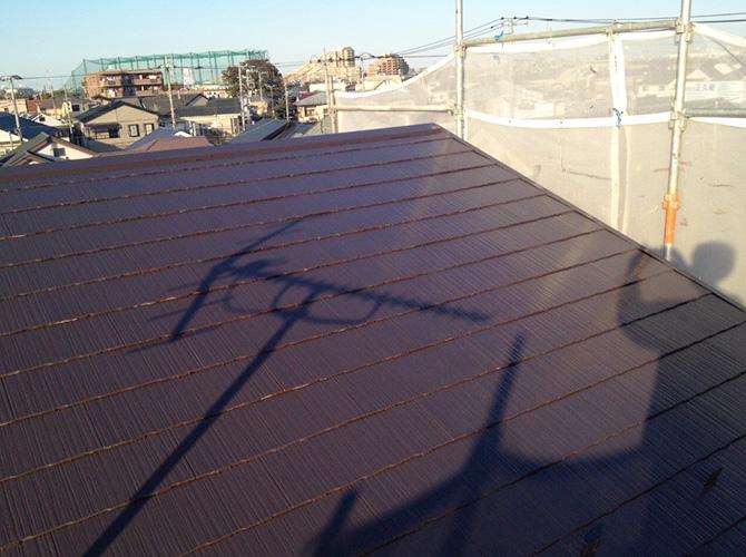 屋根塗装の施工後の状態です。