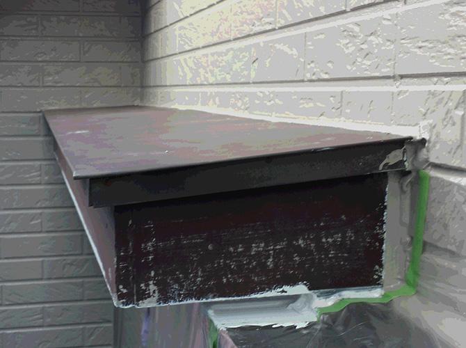 箱破風・霧除けの塗装前の状態です。