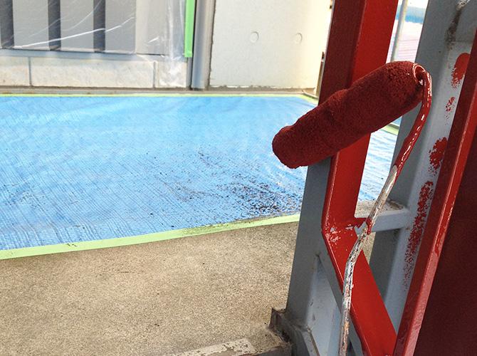 錆止め塗料をしっかりと施工します。