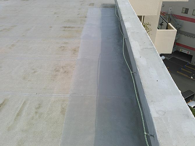 屋上の塗装完了後のようすです。