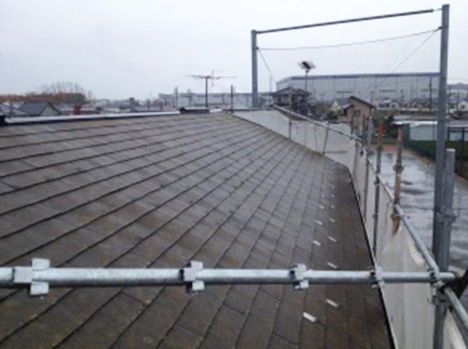 屋根の高圧洗浄の施工後のようすです。