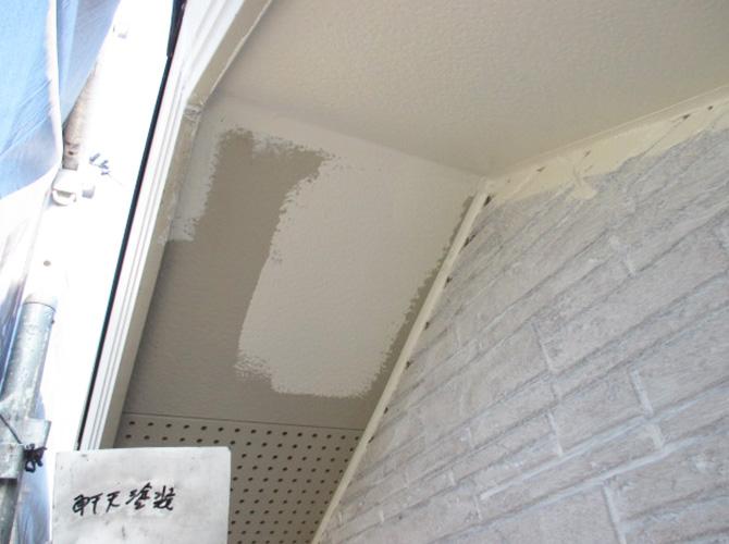 軒天は1階~3階部分まで塗装します。