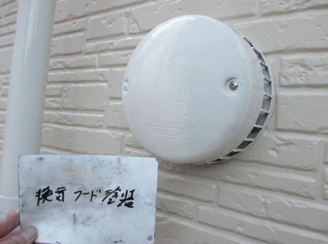 換気フードの形は問わず塗装できます。
