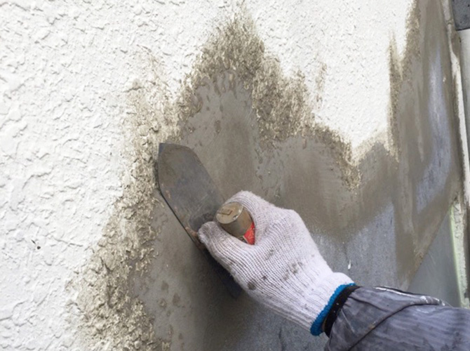 外壁塗装・鉄部塗装工事の施工中