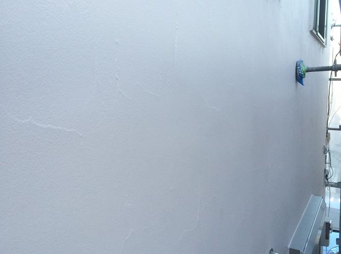 外壁塗装の塗装完了後のようすです。