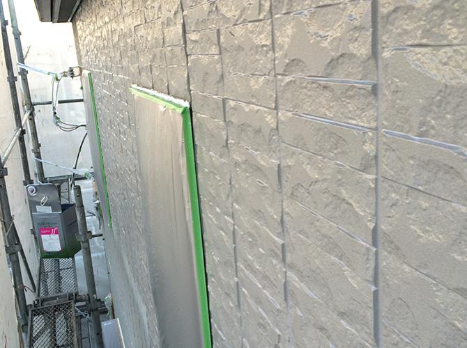 外壁塗装工事の施工後のようすです。