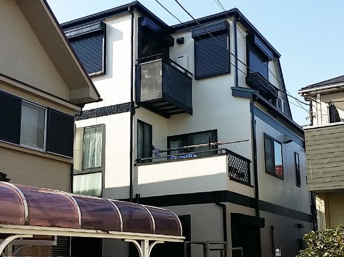 東京都足立区栗原の外壁塗装・屋根塗装工事の施工後