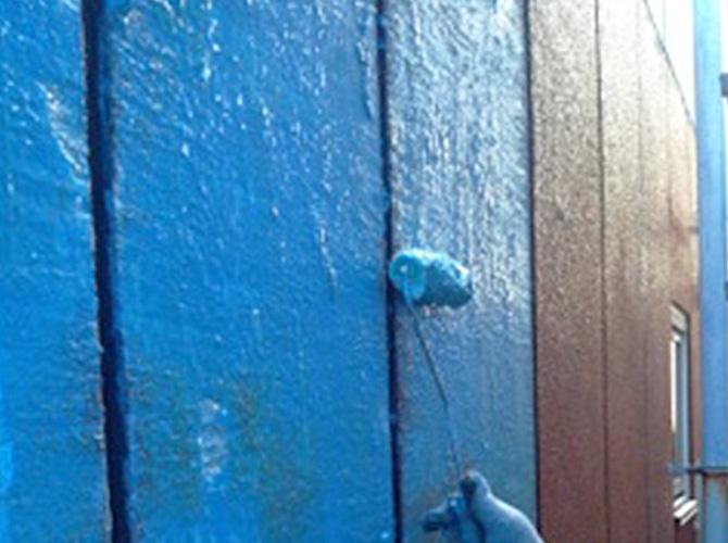 外壁塗装はハナコレクションでの施工です。