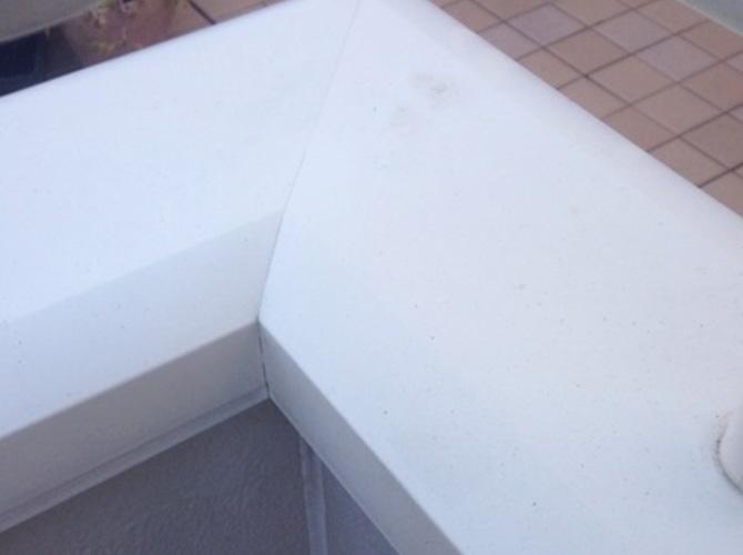付帯部の塗装前の状態です。