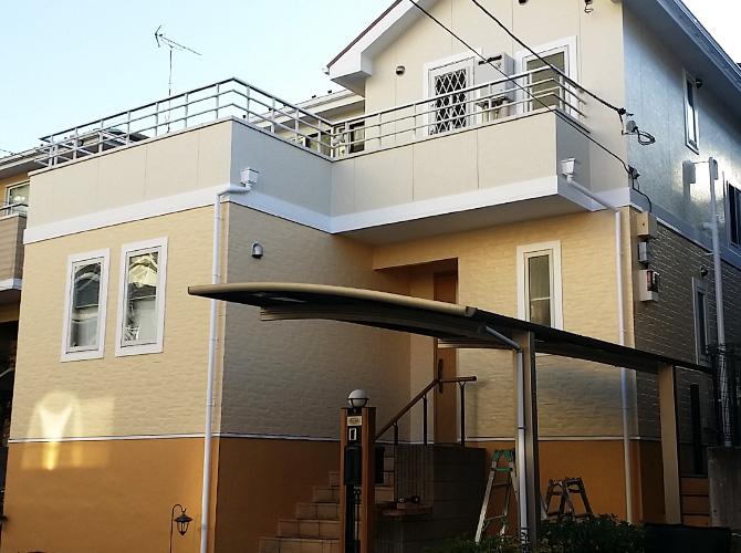 千葉県我孫子市のパーフェクトトップの外壁塗装施工事例