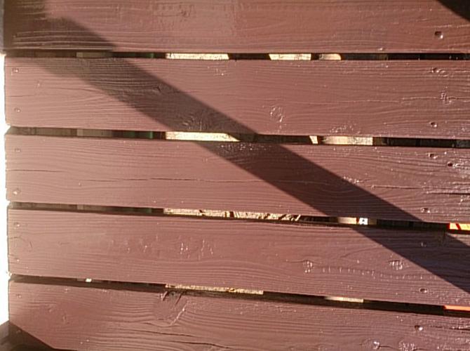 木部の塗装完了後のようすです。