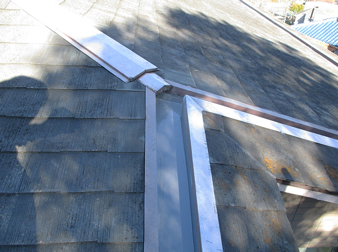 屋上防水工事の施工後のようすです。