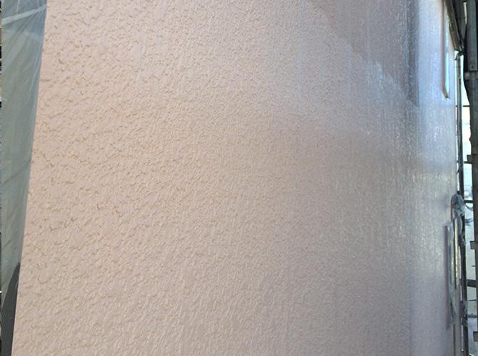 パーフェクトトップでの上塗り施工中です。