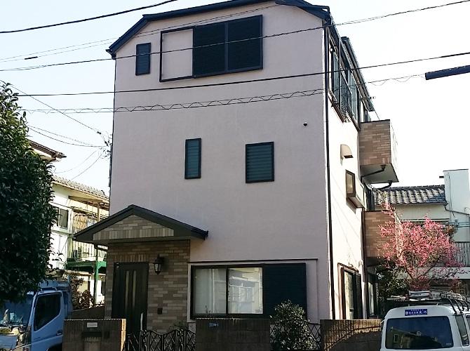 東京都葛飾区のパーフェクトトップの外壁塗装施工事例