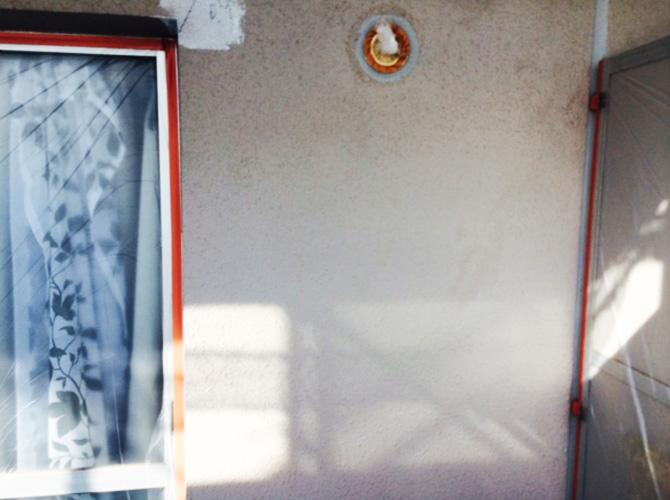 マンションのベランダ外壁塗装工事の施工前