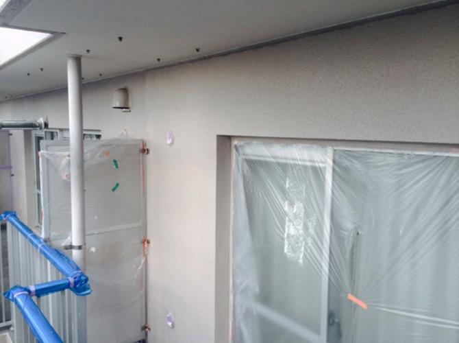 マンションのベランダ外壁塗装工事の施工後