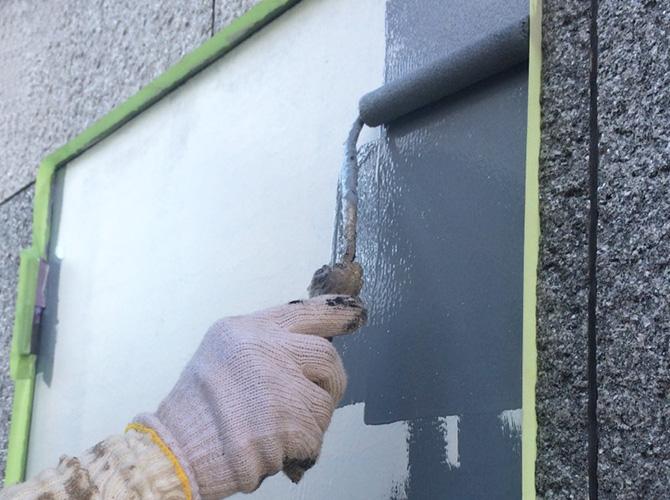 ドア(鉄部)の上塗り