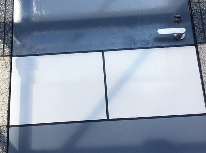 ドア(鉄部)の塗装完了後