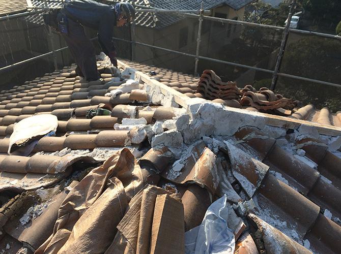 神奈川県鎌倉市アパートの屋根葺き替え工事の施工前
