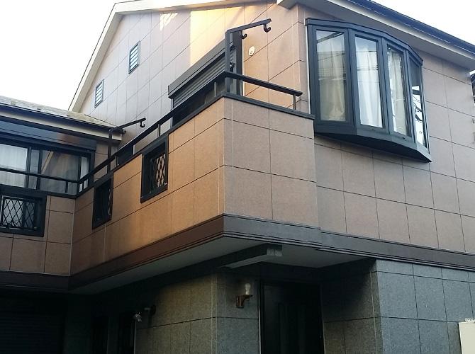 東京都葛飾区のUVプロテクトクリヤーの外壁塗装施工事例