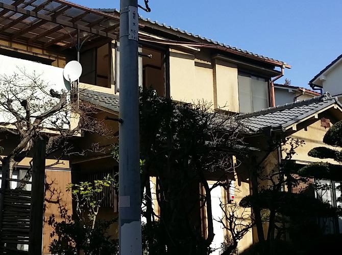 東京都江東区の外壁塗装・瓦屋根補修工事の施工前
