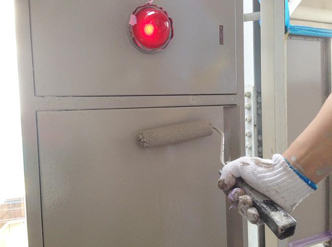 屋内消火栓BOXの塗装工事の施工後