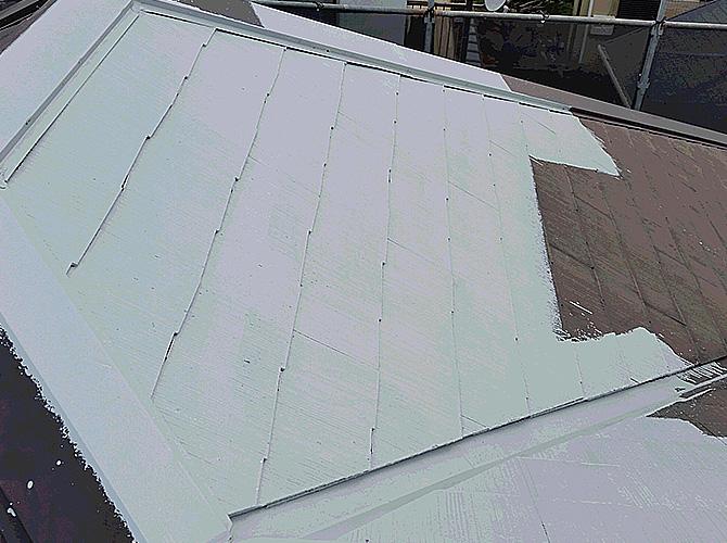 屋根塗装の下塗り塗装