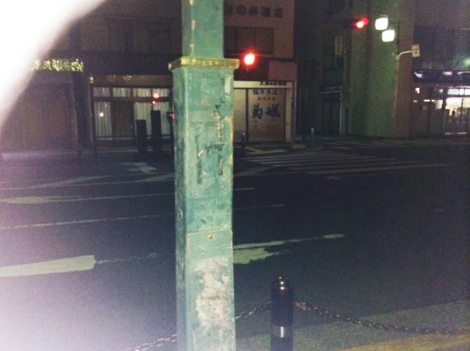 神奈川県平塚市の街路灯の塗装工事の施工前