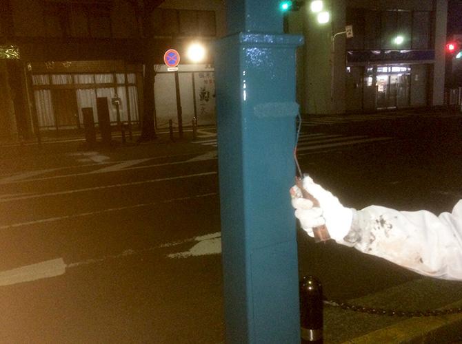 神奈川県平塚市の街路灯の塗装工事の施工後