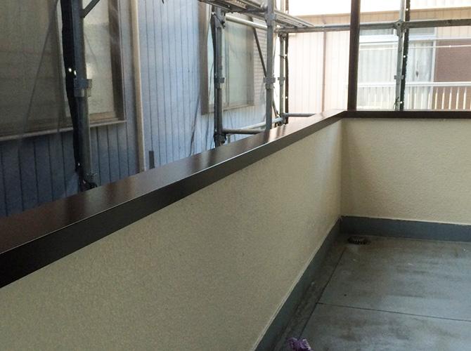 鉄部塗装の施工完了後のようすです。