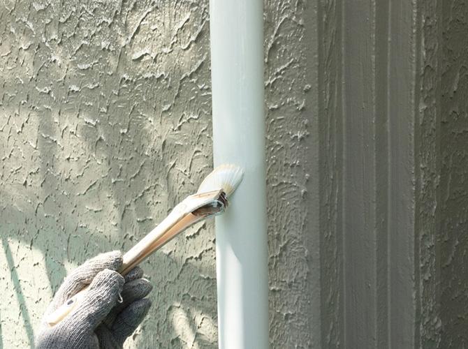 雨樋(竪樋)の塗り替え