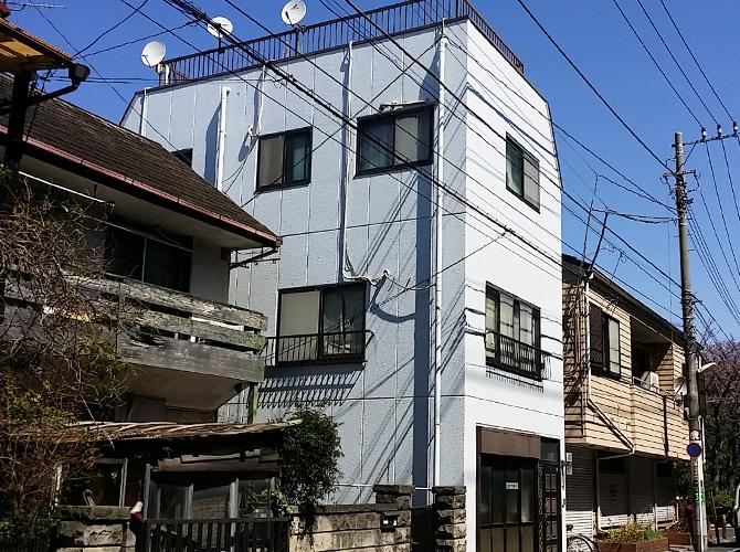 東京都葛飾区の外壁塗装・屋上防水工事の施工前