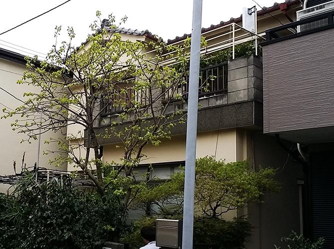 東京都葛飾区の外壁塗装・屋根修理工事の施工前