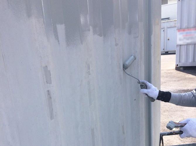 東京都足立区コンテナのサビ止め塗装工事の施工前