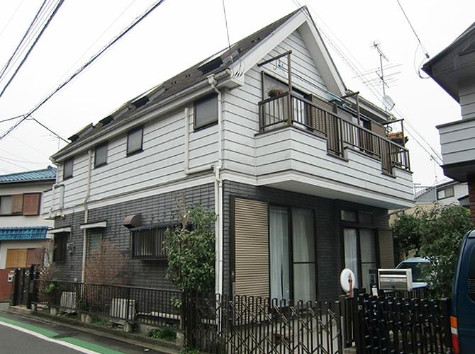 東京都世田谷区の外壁塗装工事の施工前