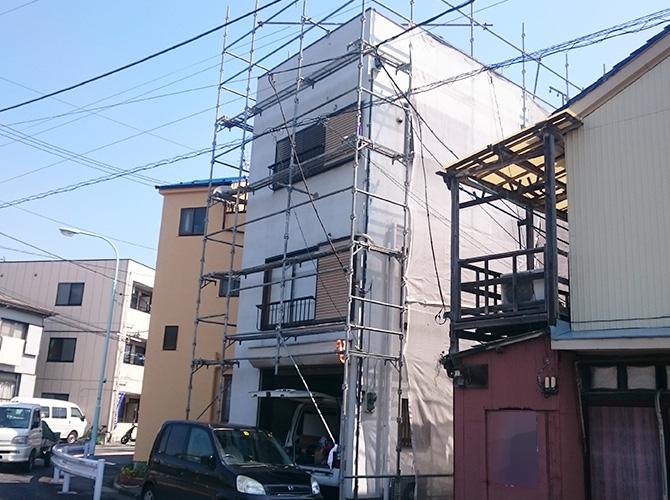 東京都江戸川区の外壁補修・外壁塗装工事の施工前