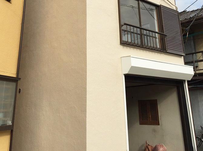 東京都江戸川区の外壁補修・外壁塗装工事の施工後