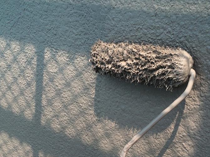東京都荒川区の外壁塗装・階段塗装工事の施工後