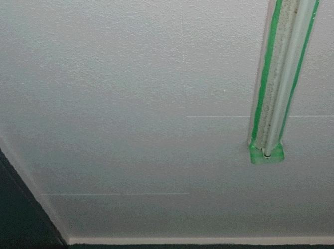 駐車場(天井)の塗装完了後