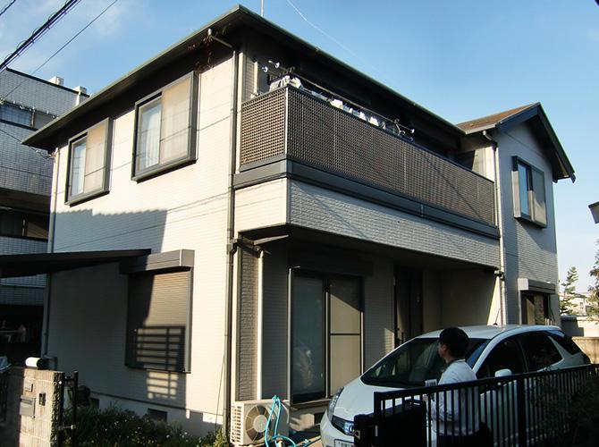 神奈川県相模原市の外壁塗装・屋根塗装工事の施工前