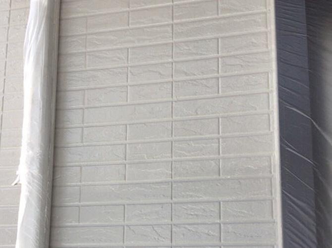 外壁塗装の上塗り完了後
