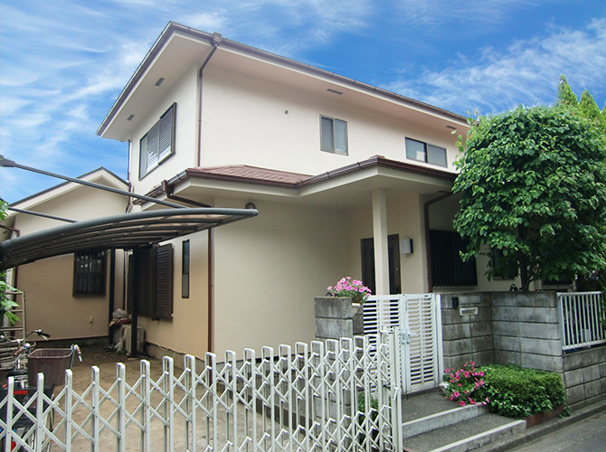 東京都小平市の外壁塗装・屋根塗装工事の施工後