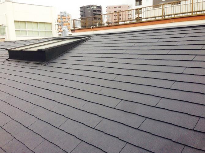 東京都品川区の鉄部錆止め・屋根葺き替え工事の施工後