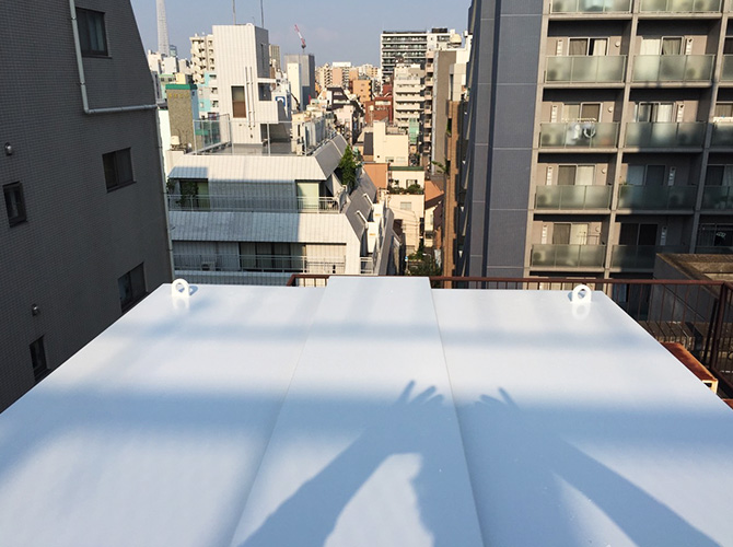 東京都台東区の屋上設備塗装工事の施工後